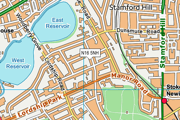 T T T Y Y School map (N16 5NH) - OS VectorMap District (Ordnance Survey)