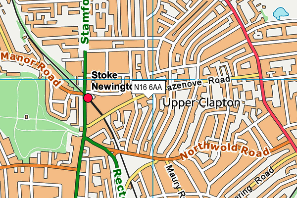 The Olive School Hackney map (N16 6AA) - OS VectorMap District (Ordnance Survey)