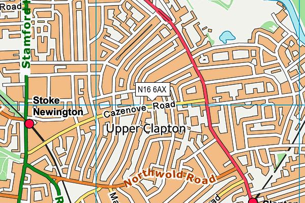 Talmud Torah Yetev Lev map (N16 6AX) - OS VectorMap District (Ordnance Survey)