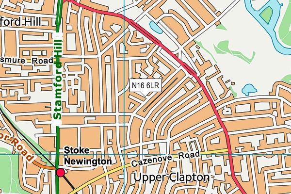 Tyssen Community Primary School map (N16 6LR) - OS VectorMap District (Ordnance Survey)