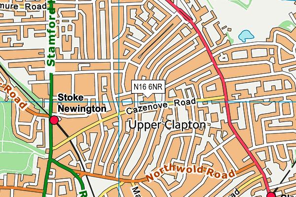 Jubilee Primary School map (N16 6NR) - OS VectorMap District (Ordnance Survey)