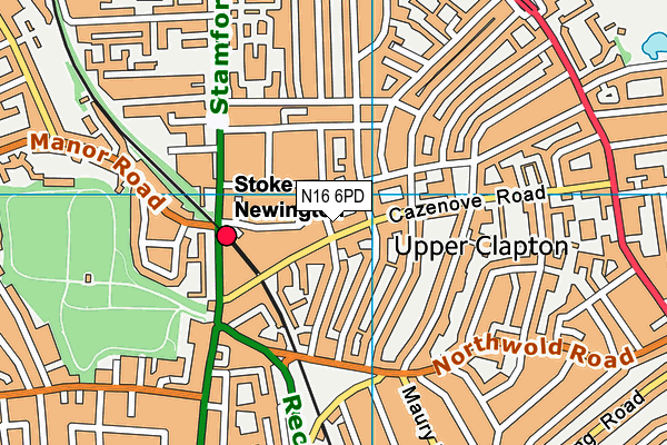 Simon Marks Jewish Primary School map (N16 6PD) - OS VectorMap District (Ordnance Survey)
