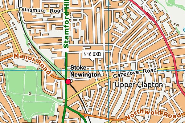 Beis Malka Girls' School map (N16 6XD) - OS VectorMap District (Ordnance Survey)