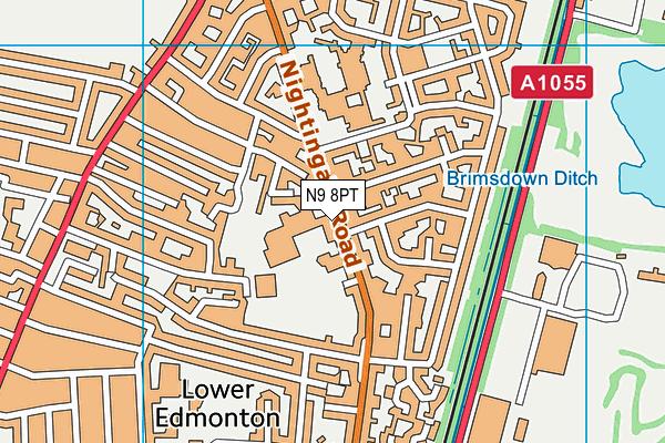 Delta Primary School map (N9 8PT) - OS VectorMap District (Ordnance Survey)
