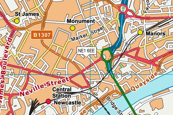 NE1 6EE map - OS VectorMap District (Ordnance Survey)