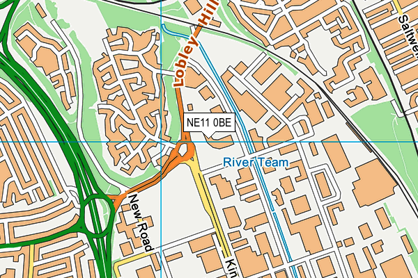 Gymetc. (Gateshead) map (NE11 0BE) - OS VectorMap District (Ordnance Survey)