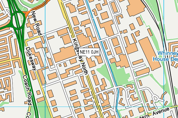 Star Jumps Health Club (Closed) map (NE11 0JH) - OS VectorMap District (Ordnance Survey)