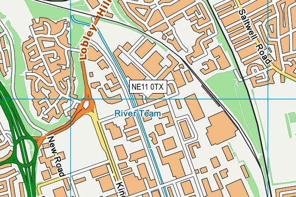 NE11 0TX map - OS VectorMap District (Ordnance Survey)