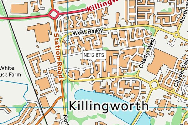 Grasmere Academy map (NE12 6TS) - OS VectorMap District (Ordnance Survey)