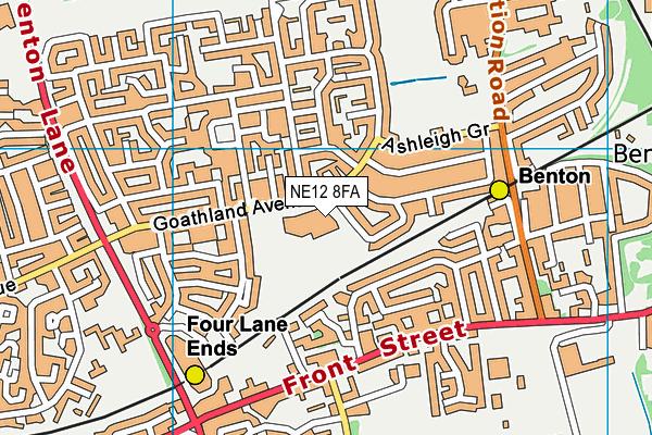 St Stephens Roman Catholic Primary School Aided map (NE12 8FA) - OS VectorMap District (Ordnance Survey)