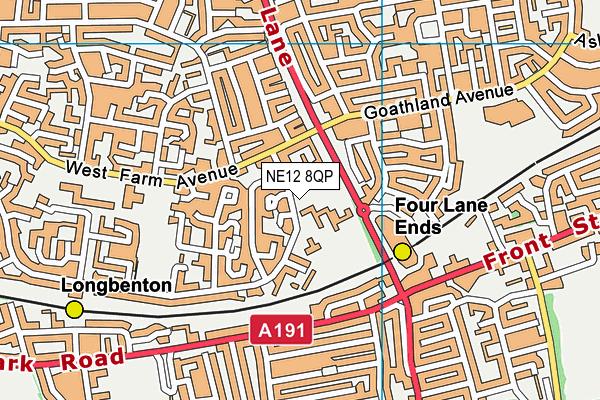Balliol Primary School map (NE12 8QP) - OS VectorMap District (Ordnance Survey)