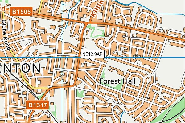 Ivy Road Primary School map (NE12 9AP) - OS VectorMap District (Ordnance Survey)