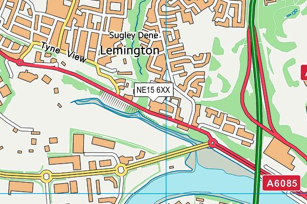 St George's RC Primary School map (NE15 6XX) - OS VectorMap District (Ordnance Survey)