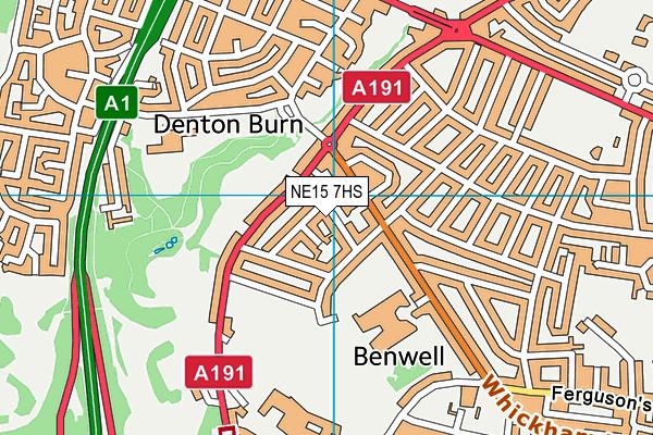 St Bede's RC Primary School map (NE15 7HS) - OS VectorMap District (Ordnance Survey)