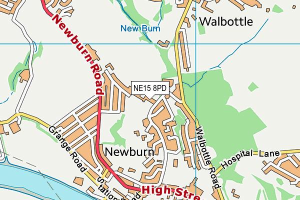 NE15 8PD map - OS VectorMap District (Ordnance Survey)