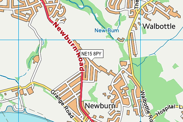 Newburn Manor Nursery School map (NE15 8PY) - OS VectorMap District (Ordnance Survey)