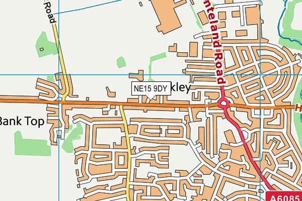 Throckley Primary School map (NE15 9DY) - OS VectorMap District (Ordnance Survey)