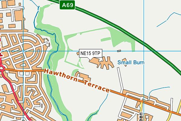 NE15 9TP map - OS VectorMap District (Ordnance Survey)