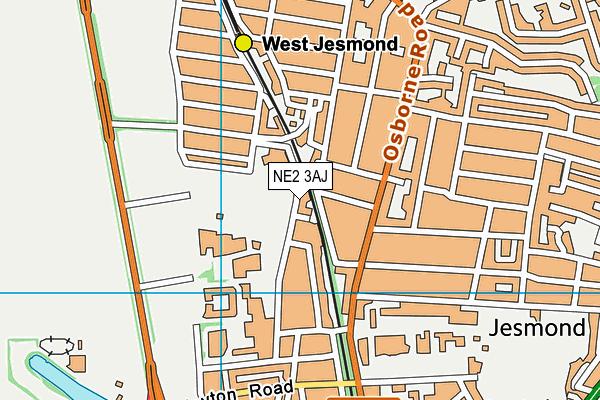 West Jesmond Primary National Teaching School map (NE2 3AJ) - OS VectorMap District (Ordnance Survey)