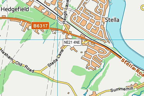 St Mary and St Thomas Aquinas Catholic Primary School map (NE21 4NE) - OS VectorMap District (Ordnance Survey)