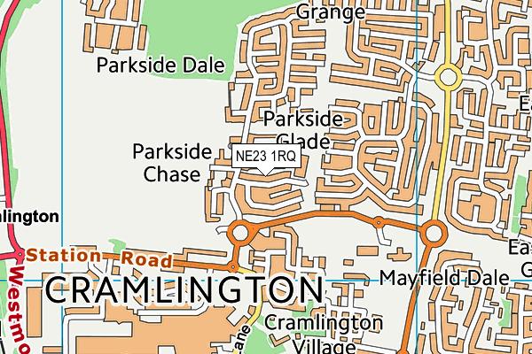 Cramlington Shanklea Primary School map (NE23 1RQ) - OS VectorMap District (Ordnance Survey)