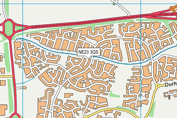 Cramlington Northburn Primary School map (NE23 3QS) - OS VectorMap District (Ordnance Survey)