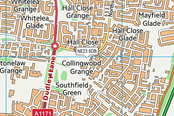 Ss Peter and Paul's Catholic Primary Academy map (NE23 6DB) - OS VectorMap District (Ordnance Survey)
