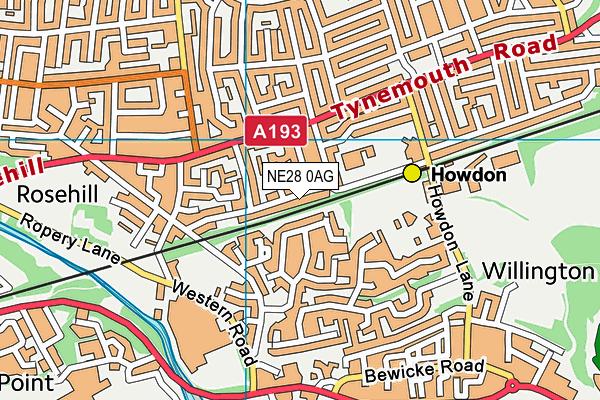 Stephenson Memorial Primary School map (NE28 0AG) - OS VectorMap District (Ordnance Survey)