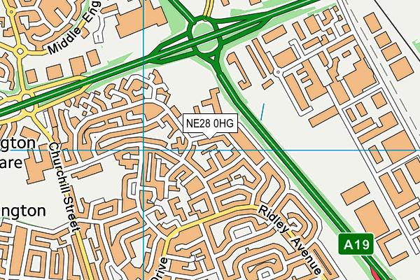 Silverdale School map (NE28 0HG) - OS VectorMap District (Ordnance Survey)