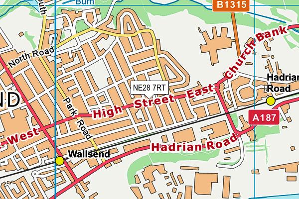 Richardson Dees Primary School map (NE28 7RT) - OS VectorMap District (Ordnance Survey)