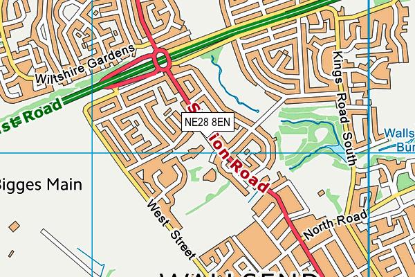 St Columbas Roman Catholic Primary School Aided map (NE28 8EN) - OS VectorMap District (Ordnance Survey)
