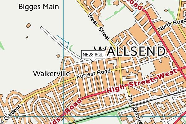Western Community Primary School map (NE28 8QL) - OS VectorMap District (Ordnance Survey)