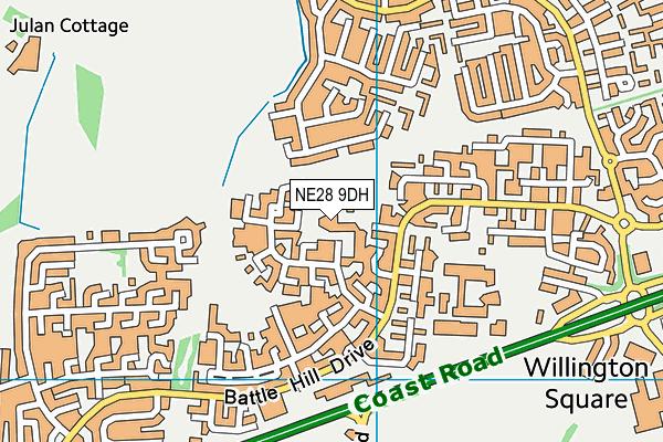 Battle Hill Primary School map (NE28 9DH) - OS VectorMap District (Ordnance Survey)