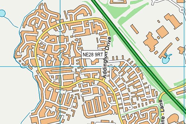 Hadrian Park Primary School map (NE28 9RT) - OS VectorMap District (Ordnance Survey)