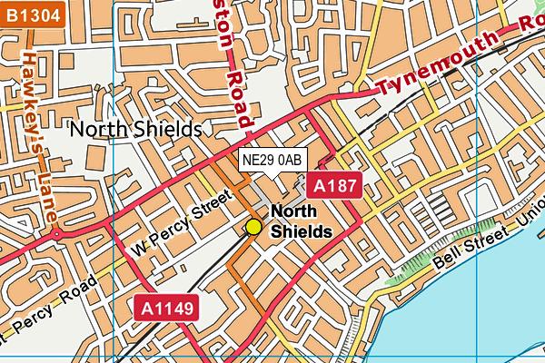 Ymca (North Tyneside) map (NE29 0AB) - OS VectorMap District (Ordnance Survey)