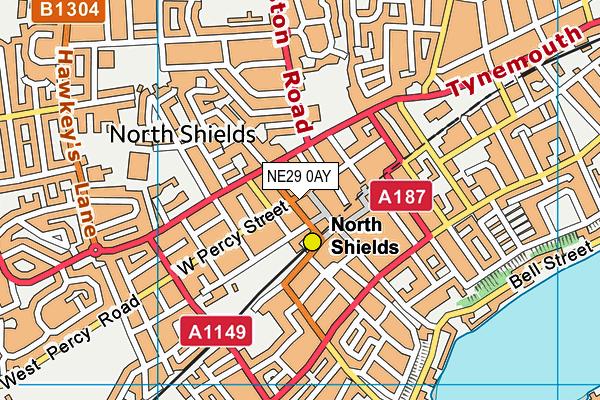 NE29 0AY map - OS VectorMap District (Ordnance Survey)