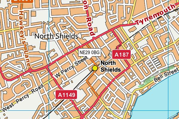 NE29 0BG map - OS VectorMap District (Ordnance Survey)