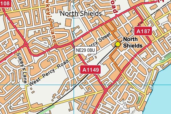 St Cuthberts Roman Catholic Primary School Aided map (NE29 0BU) - OS VectorMap District (Ordnance Survey)