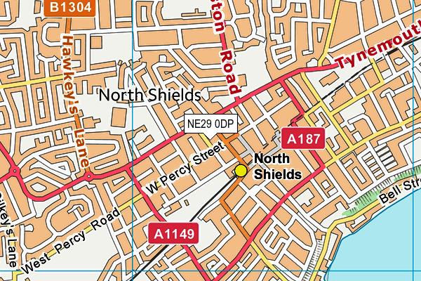 NE29 0DP map - OS VectorMap District (Ordnance Survey)