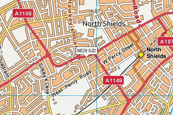 NE29 0JD map - OS VectorMap District (Ordnance Survey)
