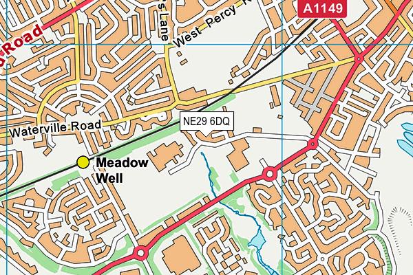 Riverside Primary School map (NE29 6DQ) - OS VectorMap District (Ordnance Survey)