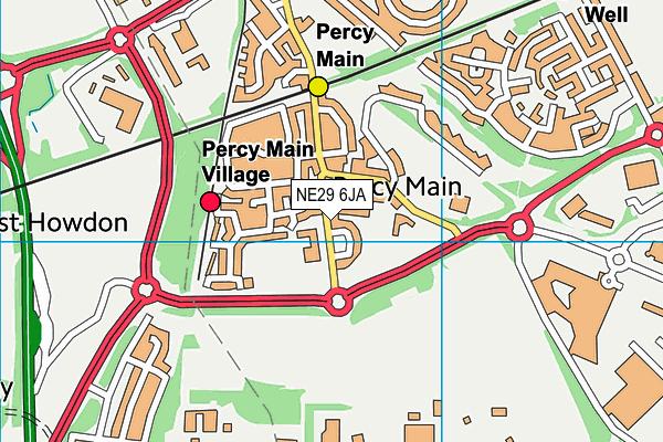 Percy Main Primary School map (NE29 6JA) - OS VectorMap District (Ordnance Survey)