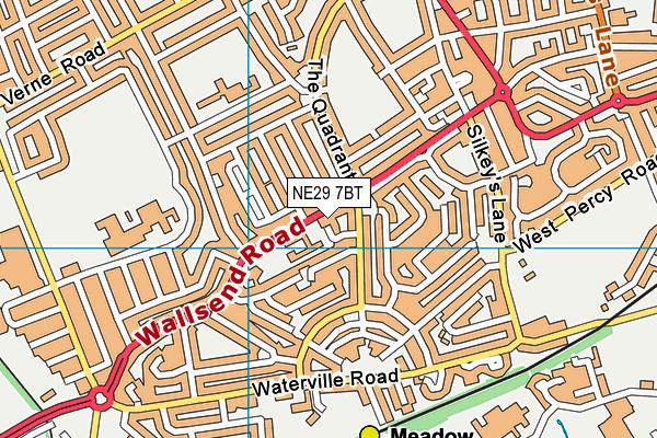 NE29 7BT map - OS VectorMap District (Ordnance Survey)