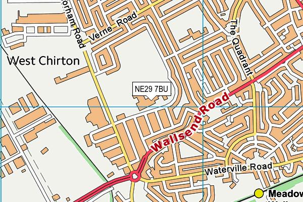 Norham High School map (NE29 7BU) - OS VectorMap District (Ordnance Survey)