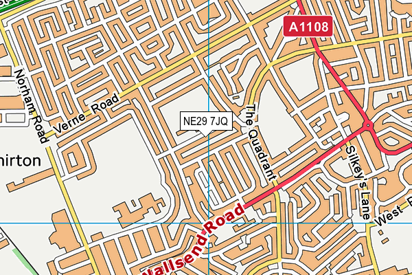 Collingwood Primary School map (NE29 7JQ) - OS VectorMap District (Ordnance Survey)