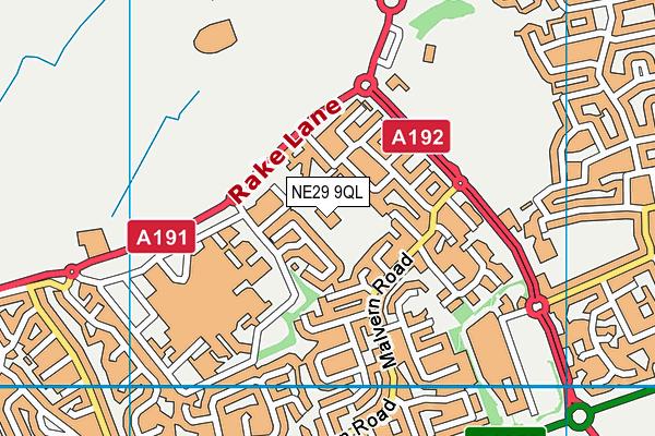 Preston Grange Primary School map (NE29 9QL) - OS VectorMap District (Ordnance Survey)