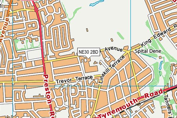 King Edward Primary School map (NE30 2BD) - OS VectorMap District (Ordnance Survey)