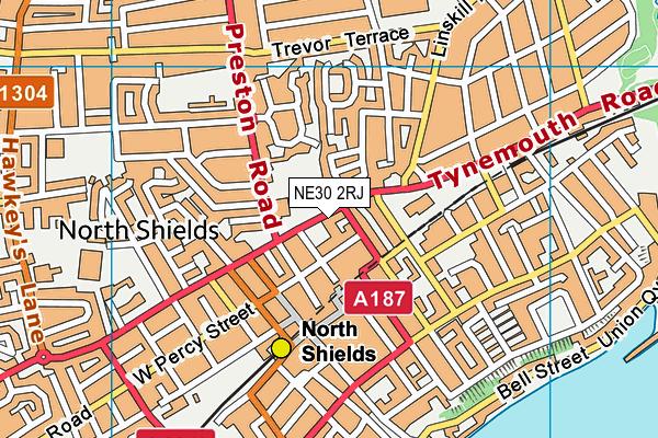 NE30 2RJ map - OS VectorMap District (Ordnance Survey)