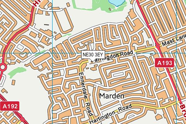 St Marys Roman Catholic Primary School Aided map (NE30 3EY) - OS VectorMap District (Ordnance Survey)