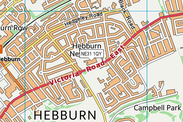 Keelman's Way School map (NE31 1QY) - OS VectorMap District (Ordnance Survey)